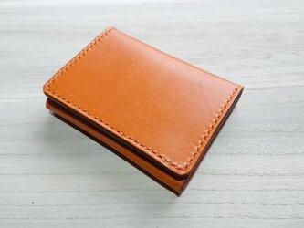 *受注生産* 小ぶりな財布(家計のやりくり1週間) 栃木レザー/ピアノレザー キャメルの画像