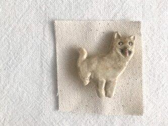 柴犬のブローチの画像