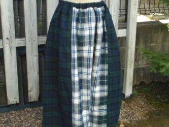 期間限定SALE!気ままにパッチワーク・ギャザースカート(あったかチェック)の画像