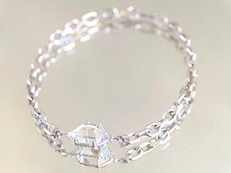 (thank-you,sold!)煌めく光の結晶 ダイヤモンドクォーツ 原石腕飾りの画像