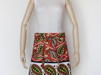 アフリカ布のカフェ・エプロンの画像