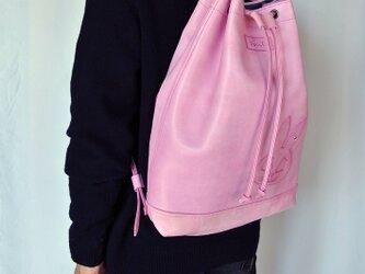 うさぎスカル、ピンクのリュック>の画像