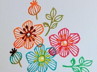 北欧風お花重ねおしはんこ(4点セット)の画像