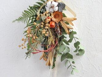 桐の蕾のお正月スワッグの画像