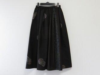 *アンティーク着物*泥大島紬のパッチスカート(裏地つき)の画像