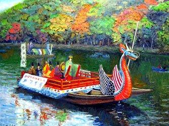 嵐山もみじ祭 舞台舟の画像