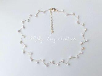 お呼ばれシーンに【Milky way】ネックレス/ひとつ星のアジャスター付き/ゴールド/シルバーの画像