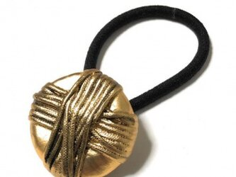 ジャパン 世界の飾りボタン ヘアゴム ゴールド[mazh-129]の画像