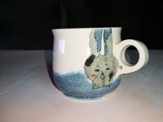 マグカップ(照れうさぎ)の画像