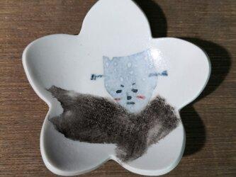 花形小皿(照れフランケンシュタイン)の画像