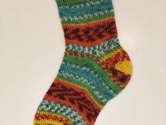 No.205 M様オーダー品送料込手編み靴下の画像