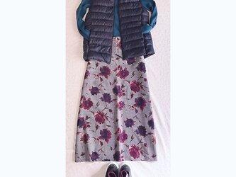 イタリー製ウール地のAラインロングスカートの画像