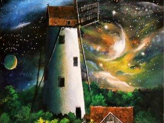 宇宙の風車の画像