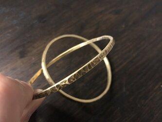 真鍮のバングル Nダブルリング HTの画像