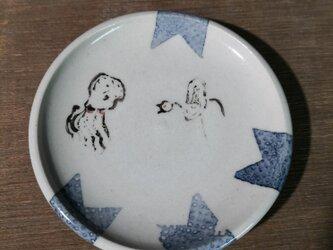 3寸皿(タコvs鳥)の画像