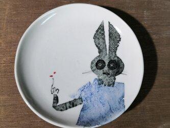 4寸皿(うさぎ)の画像