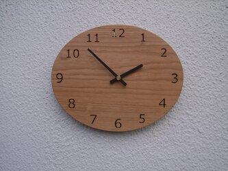 桜材の壁掛け時計 オーバル №2の画像