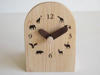 卓上アニマル時計の画像
