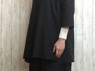 新作 暖かコットンウールのテントライントップス 黒 M~5L 予約販売 プチオーダー可の画像