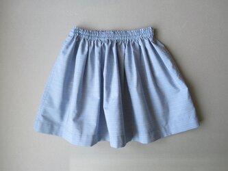 ギャザースカート 90cm/blueの画像