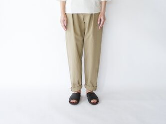 original cotton twill/tuck pantsの画像