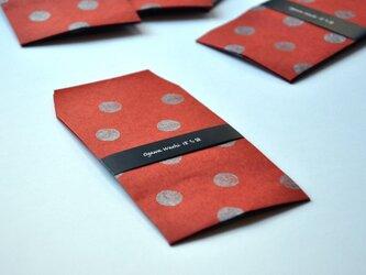 水玉ぽち袋(red)の画像