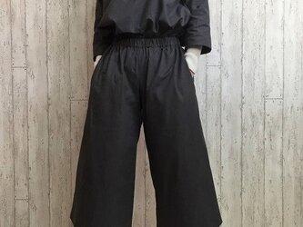 【福袋・送料無料】暖かコットンウールのトップス&パンツ セットアップ チャコール M~5L 予約販売 の画像
