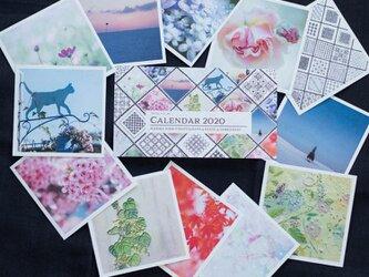 活版印刷カレンダー2020*Mariko Hirai * Photo&Pastel&刺繍の画像