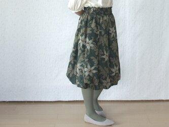 クリスマスカラー♪ 銘仙のバルーンスカートの画像