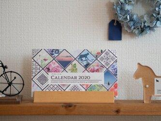 スタンド付き活版印刷カレンダー2020*Mariko Hirai * Photo&Pastel&刺繍の画像