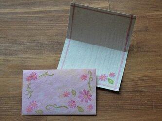 ミニ封筒&Card/お花の画像