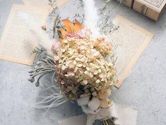 紫陽花のアンティークスワッグの画像