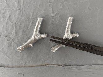 錫小枝箸置き2 (2個セット)の画像