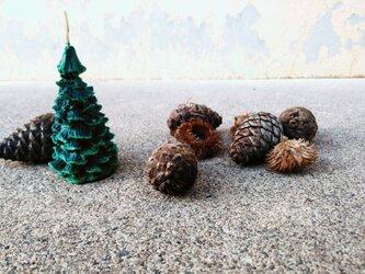 クリスマスツリーキャンドル(ホワイト)の画像