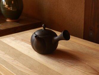【愛知県常滑産】とこなめ焼の急須・丸・260cc・墨色(小さめの湯呑2杯分)の画像