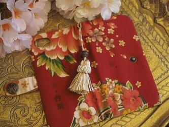 ★台湾花布★手帳型スマホケース(全機種対応)№37【受注製作】の画像