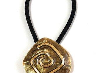 フランス 世界の飾りボタン ヘアゴム ゴールド[mazh-125]の画像