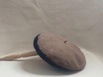 Zureteruベレエ帽 ネイビーベージュの画像