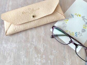 Ezo Deerskin ( Hokkaido Deer ) natural glasses case( メガネ ケース  )の画像