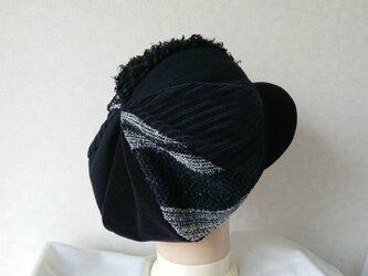 魅せる帽子☆ふんわり♪大きめサイズのキャスケット~モノトーンの画像