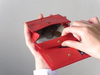 小銭が取り出しやすい!二つ折り財布 - Short Wallet - 赤 - :カレン クオイルの画像
