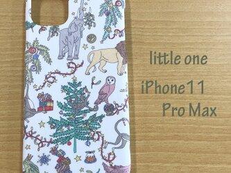 【リバティ生地】Liberty Christmas白 iPhone11 Pro Maxの画像