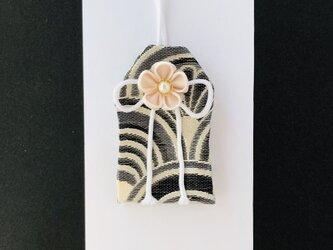 (銀青海波)元巫女の花のお守り袋の画像
