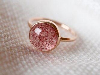 K10 ストロベリークォーツ ringの画像