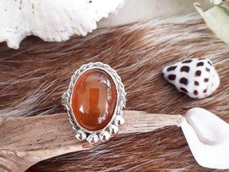 【14号】silver925 yellow agate ringの画像