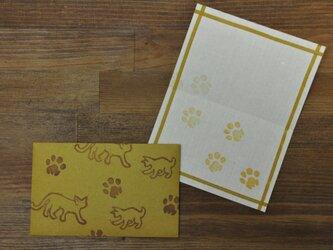 ミニ封筒&Card/猫さん(山吹色)の画像