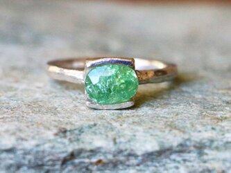天然石*パライバトルマリン 指輪*10号 SVの画像