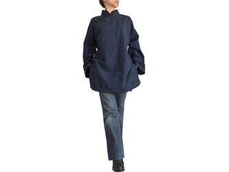 ジョムトン手織り綿チャイナチュニック(B-514-04)の画像