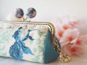 ★台湾花布★可愛いキャンディガマ口100%手縫ポーチ【受注製作】の画像
