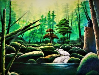 倒木の沼の画像